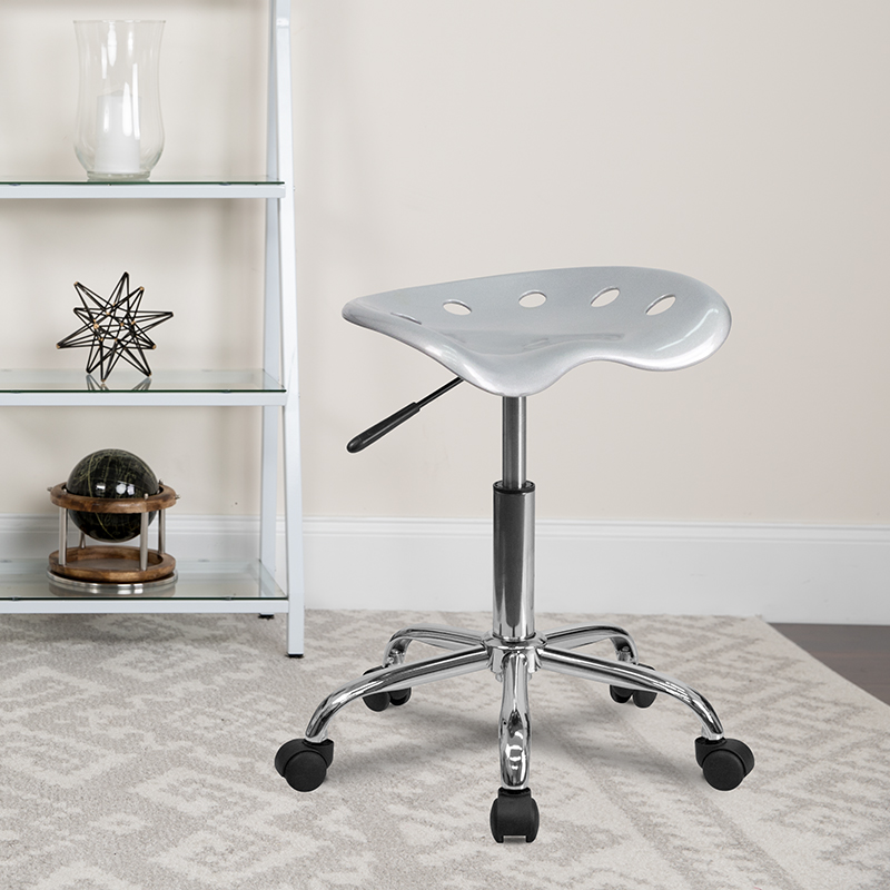 Silver Tractor Stool LF-214A-SILVER-GG