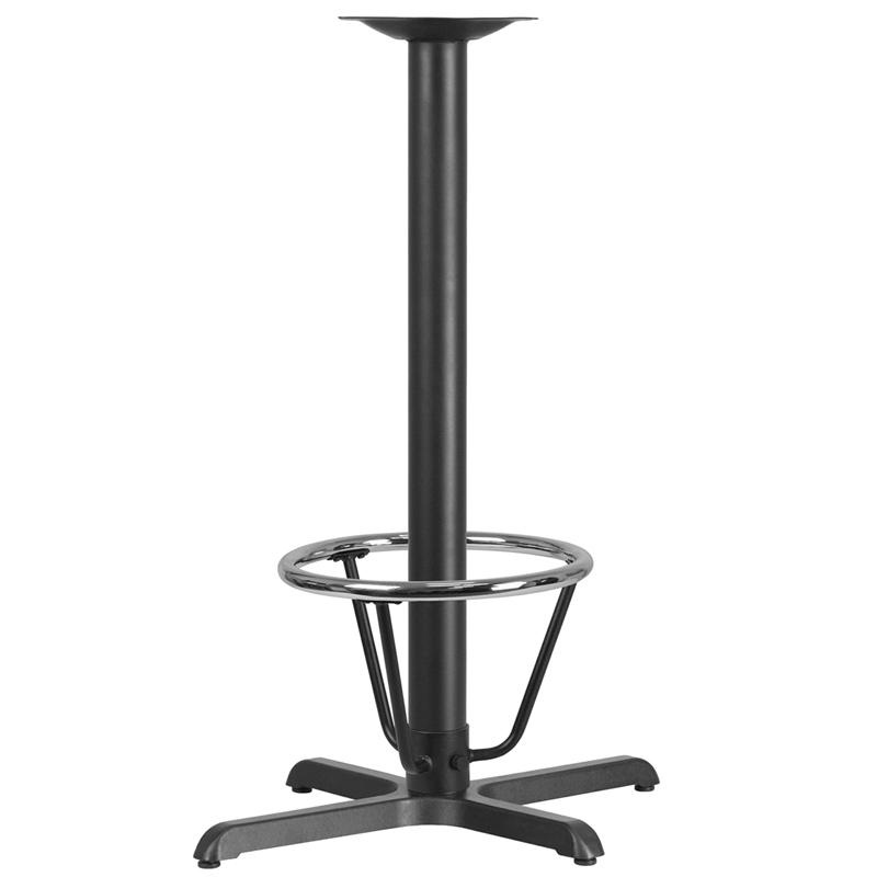 Black 22x30 Bar Height X-Base XU-T2230-BAR-3CFR-GG