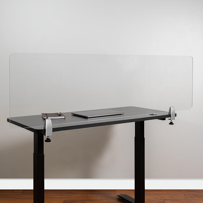 Clear Acrylic Desk Partition BR-DDIA-45152-GG