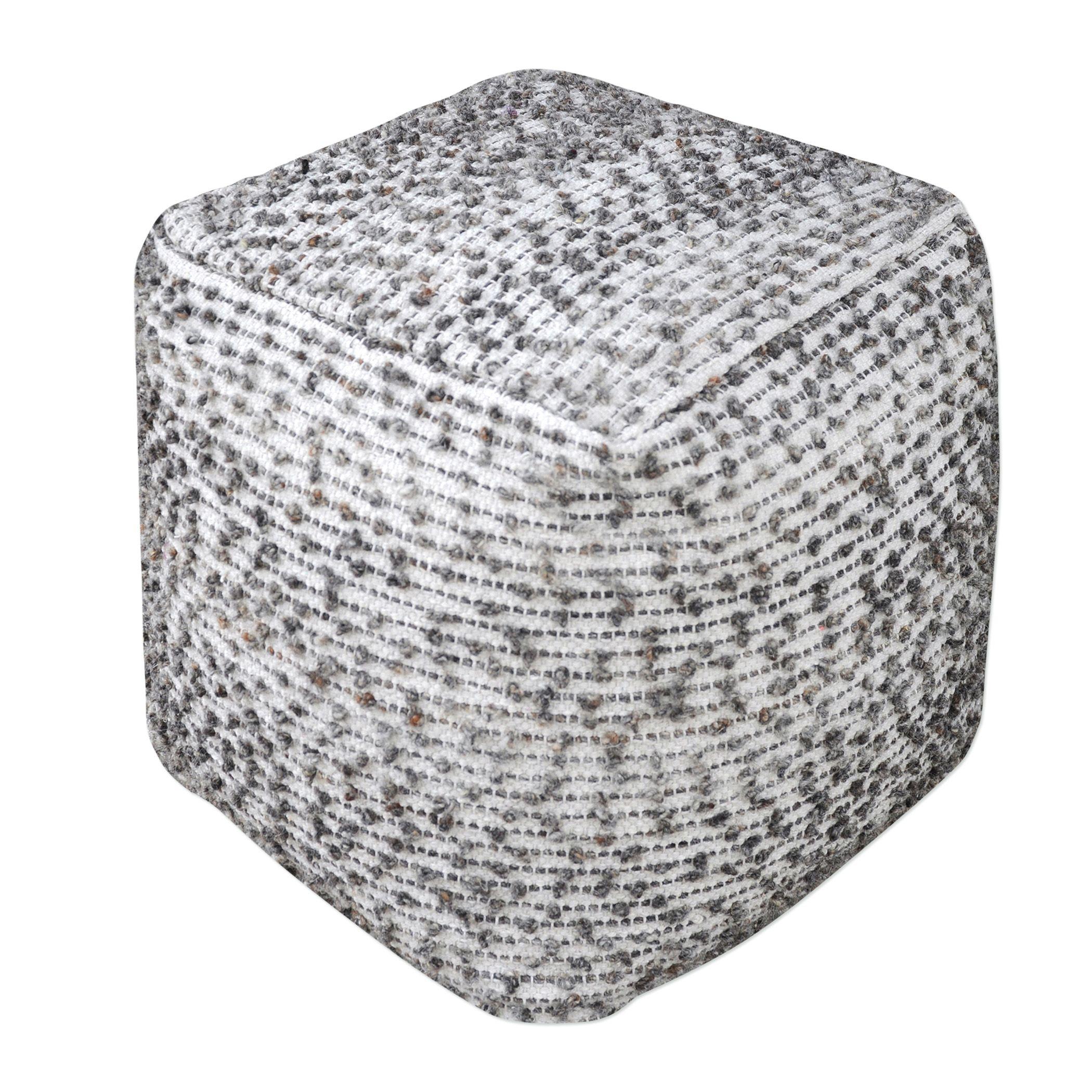 Uttermost Valda Linen Wool Pouf