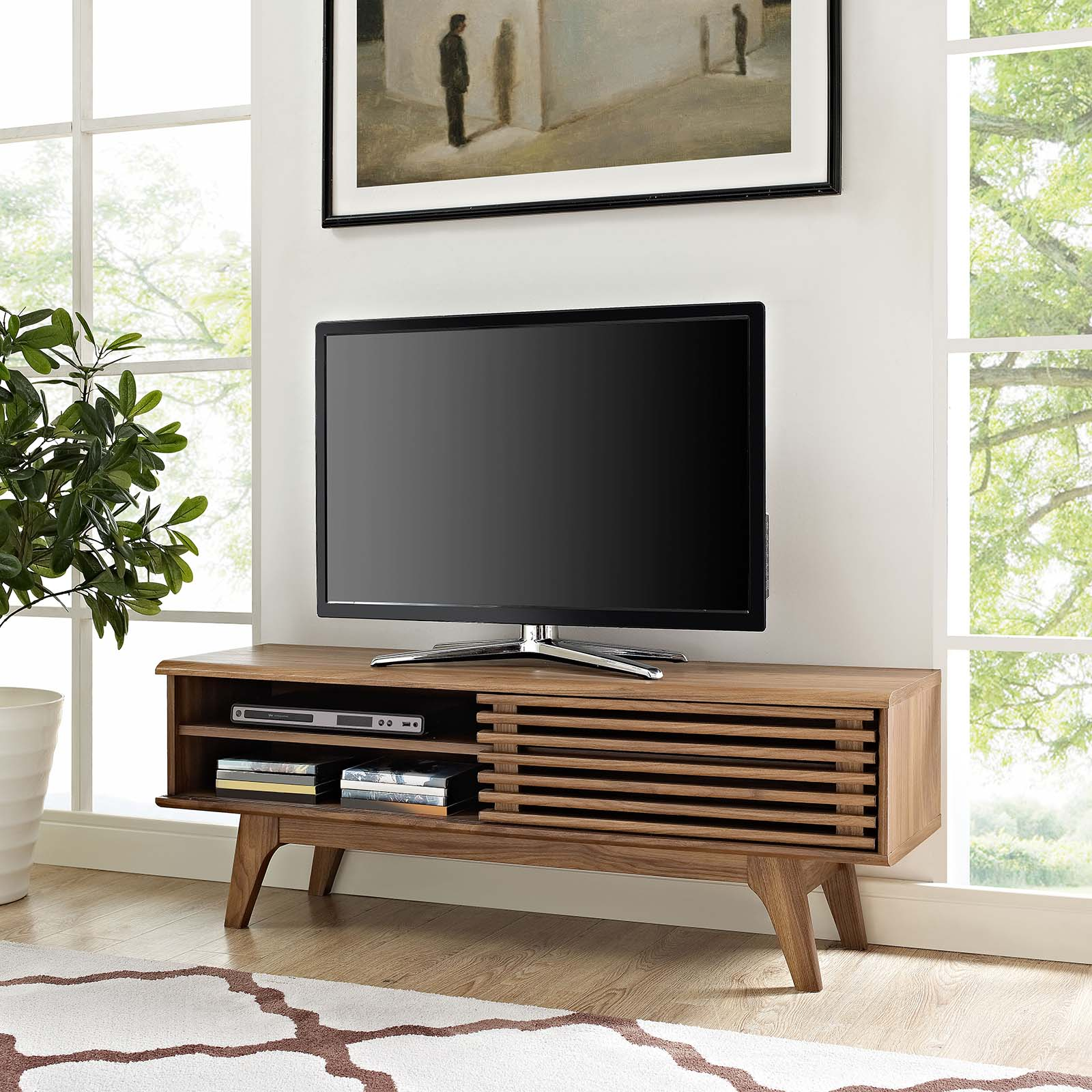 "Render 48"" TV Stand Walnut EEI-2539-WAL"