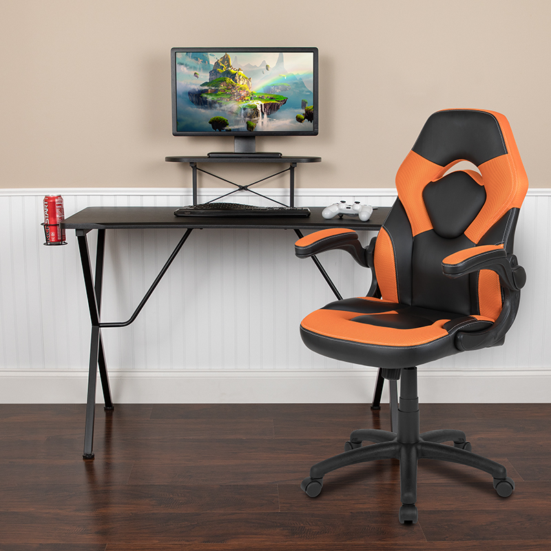 Black Gaming Desk & Chair Set BLN-X10RSG1031-OR-GG