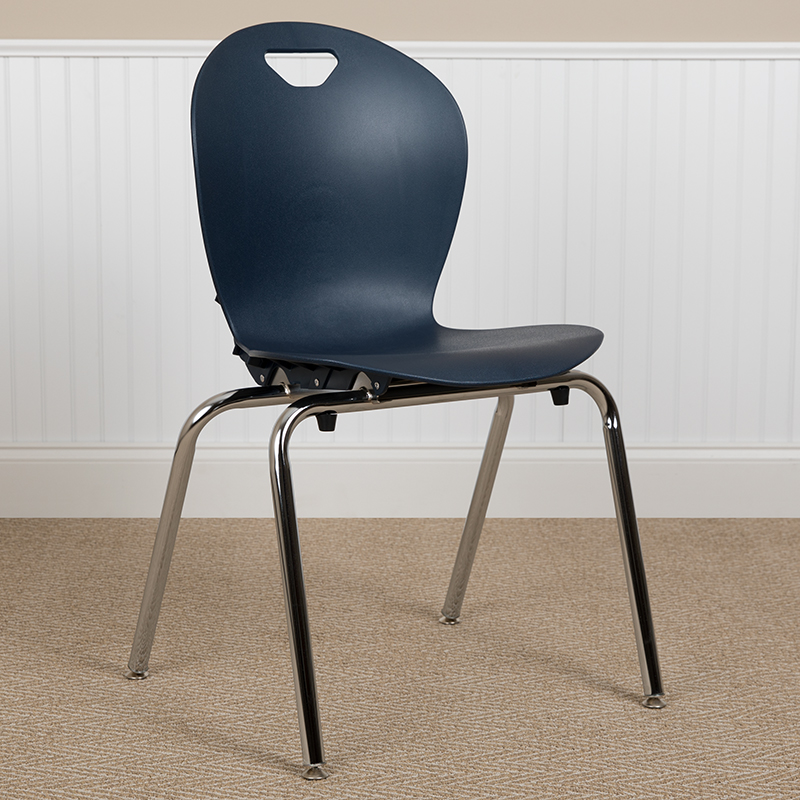 Navy Student Stack Chair 18