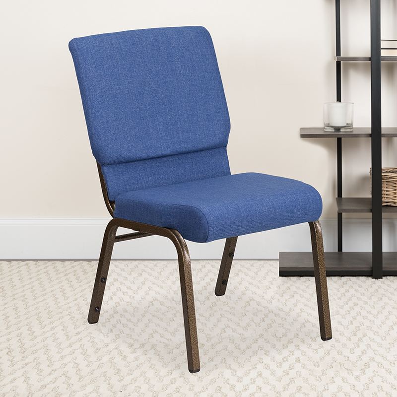 Blue Fabric Church Chair FD-CH02185-GV-BLUE-GG