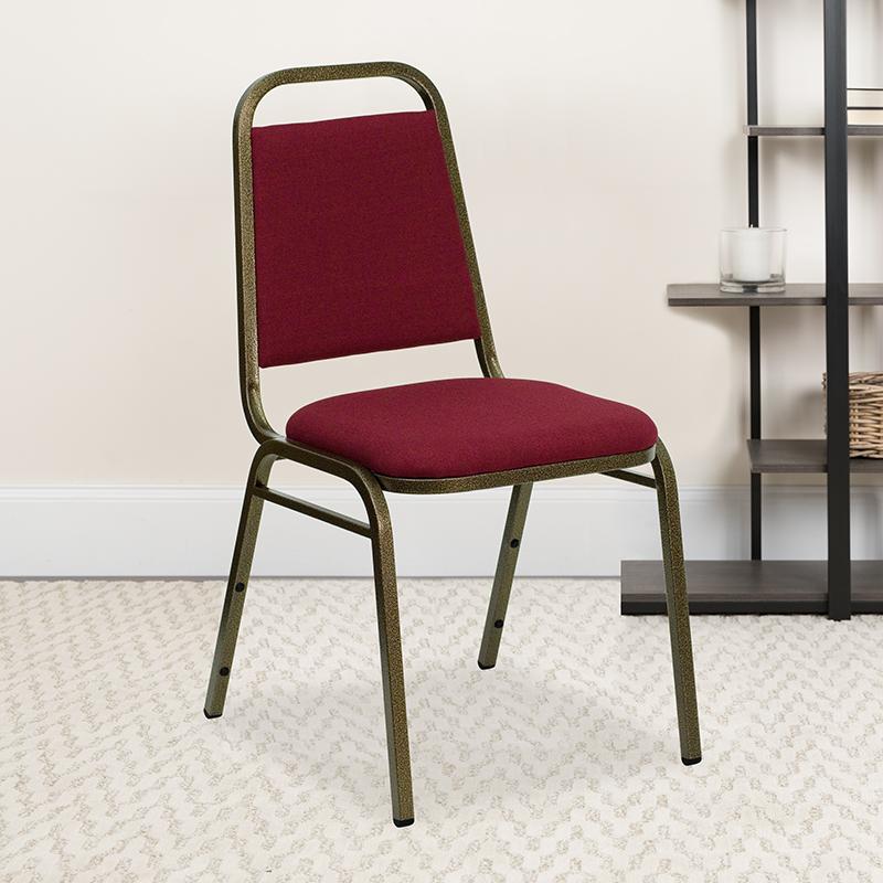 Burgundy Fabric Banquet Chair FD-BHF-2-BY-GG