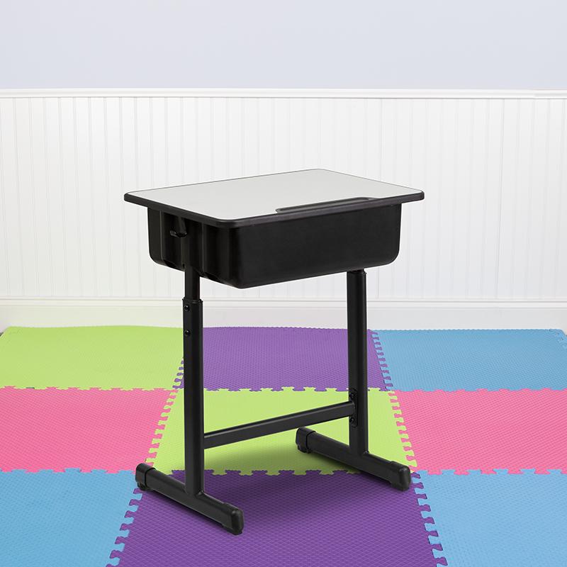 Grey Open Front Desk YU-YCY-046-GG