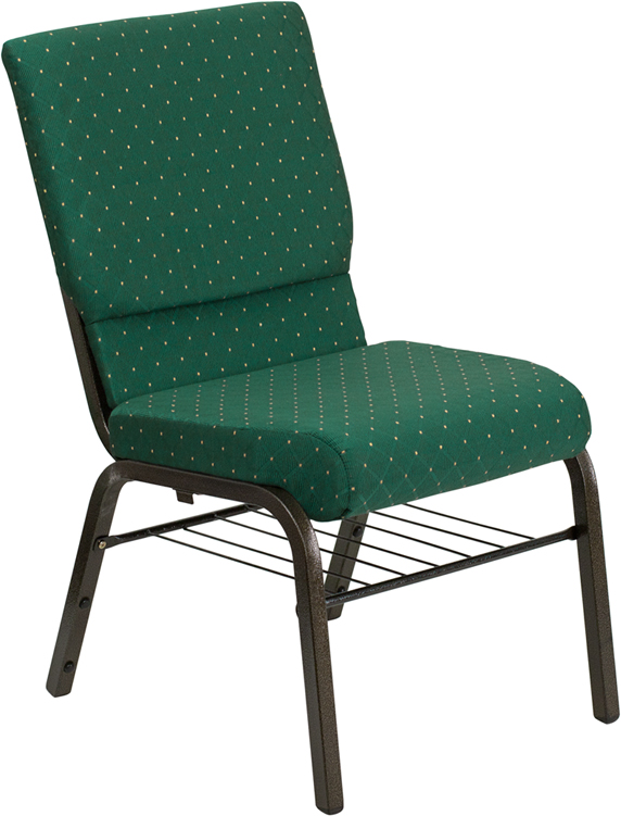 Green Fabric Church Chair XU-CH-60096-GN-BAS-GG