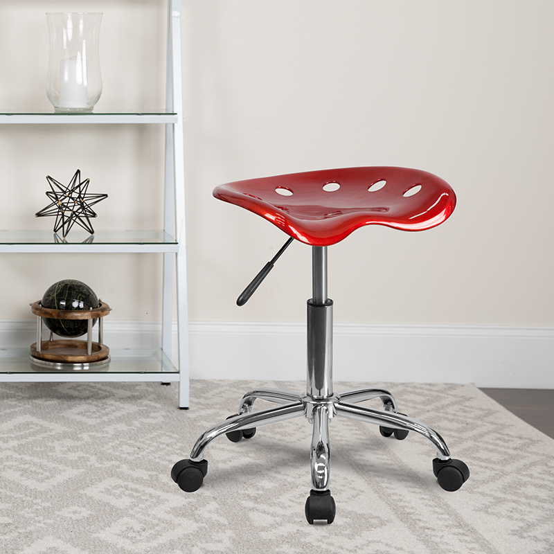 Wine Red Tractor Stool LF-214A-WINERED-GG