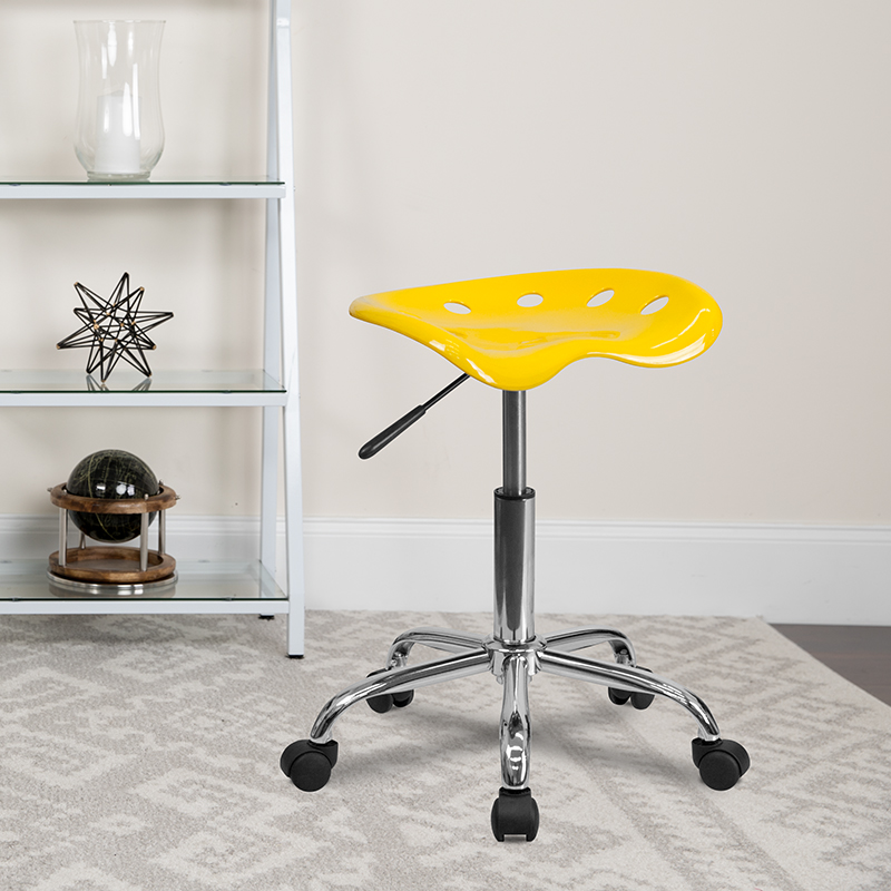 Yellow Tractor Stool LF-214A-YELLOW-GG