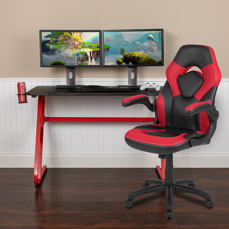 Red Gaming Desk and Chair Set BLN-X10RSG1030-RD-GG