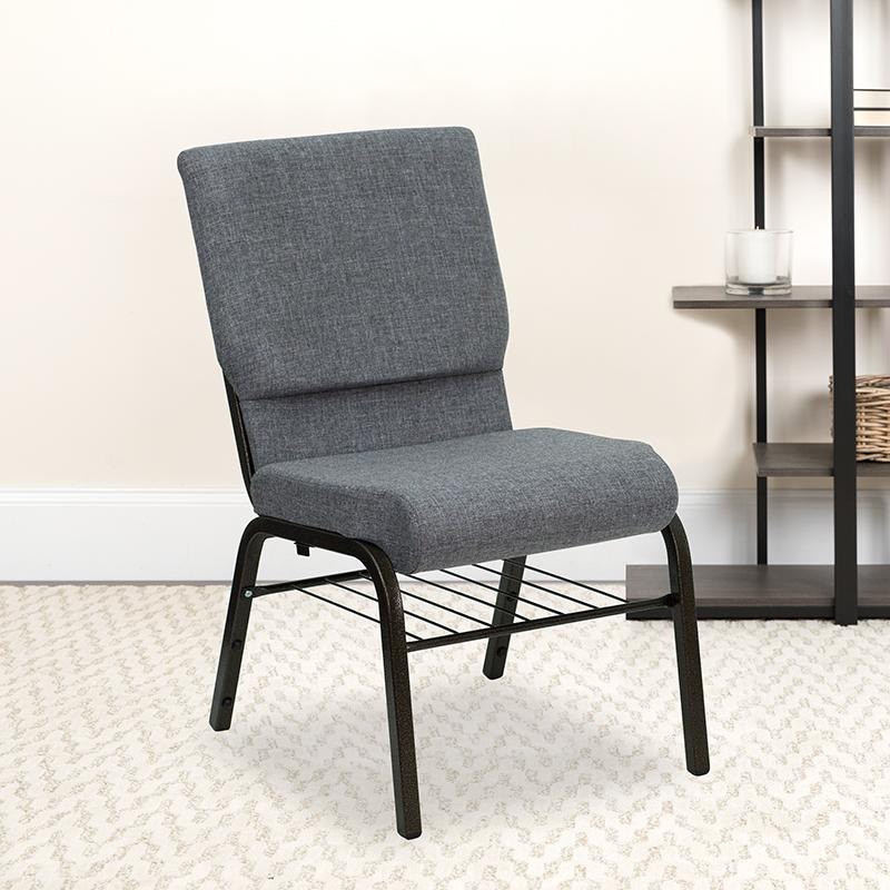 Gray Fabric Church Chair XU-CH-60096-BEIJING-GY-BAS-GG