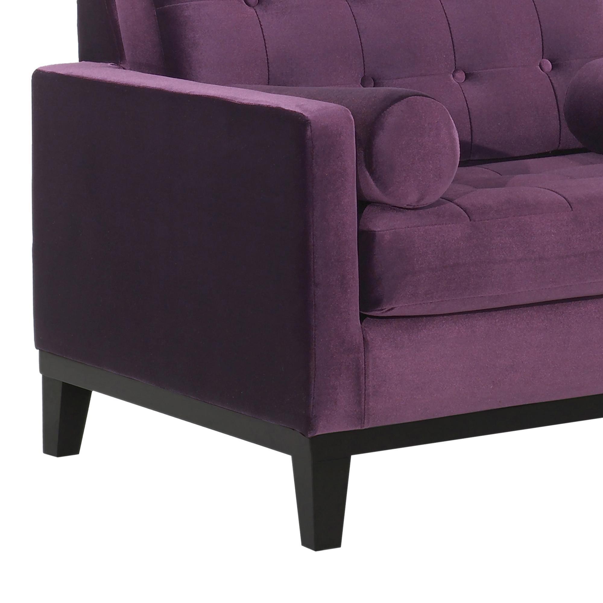 Armen Living Centennial Chair in Purple Velvet