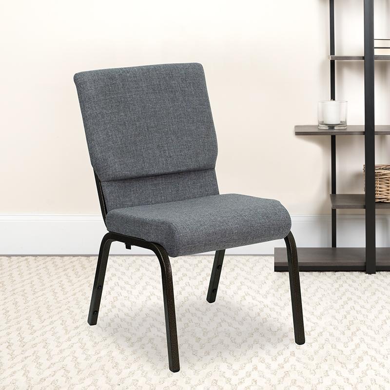 Gray Fabric Church Chair XU-CH-60096-BEIJING-GY-GG