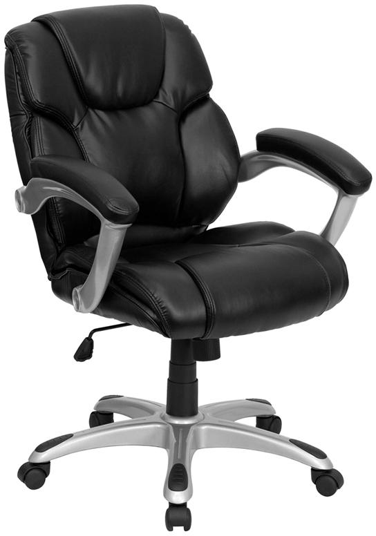 Black Mid-Back Task Chair GO-931H-MID-BK-GG