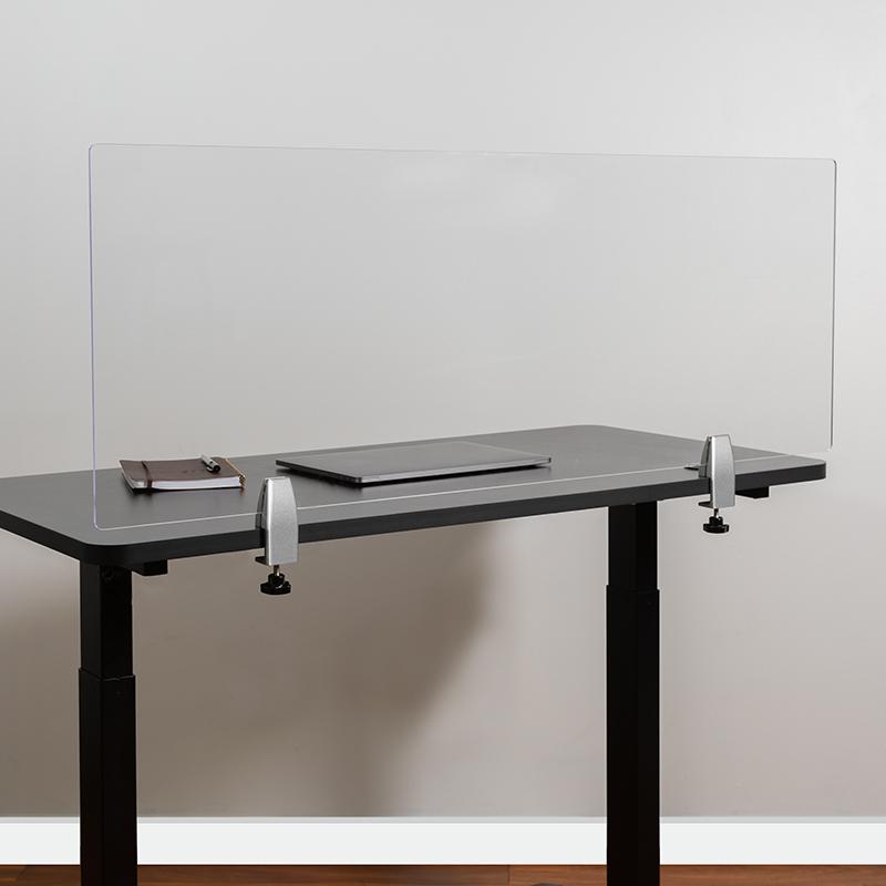 Clear Acrylic Desk Partition BR-DDIA-45119-GG