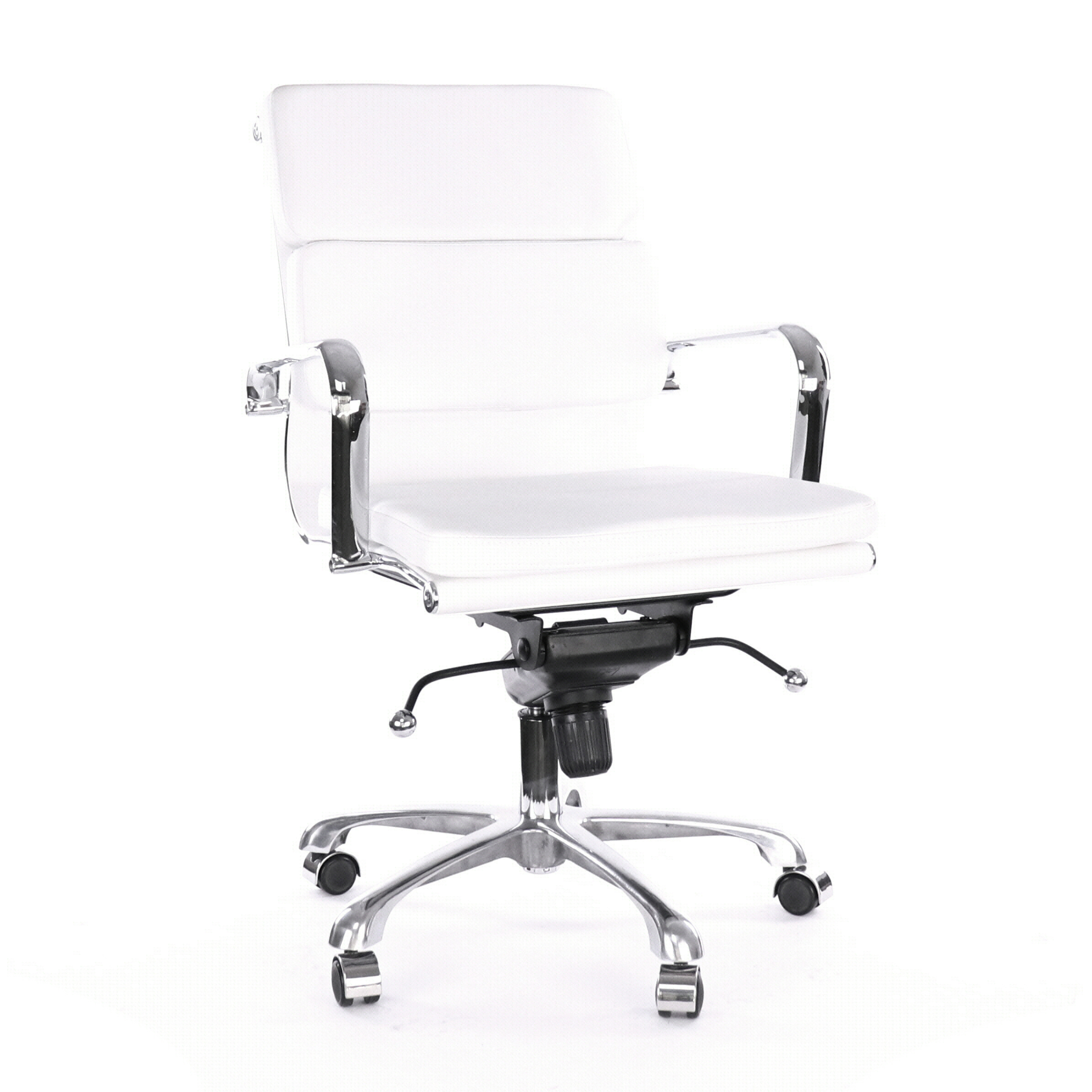 Design Lab MN LS-0008-1-WHTCRM Century White Office Chair
