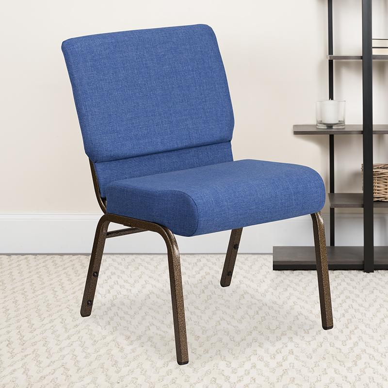 Blue Fabric Church Chair FD-CH0221-4-GV-BLUE-GG