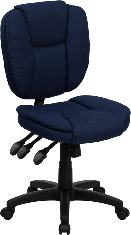 Navy Mid-Back Fabric Chair GO-930F-NVY-GG