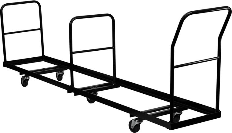 Black Folding Chair Dolly - 50 NG-DOLLY-309-50-GG