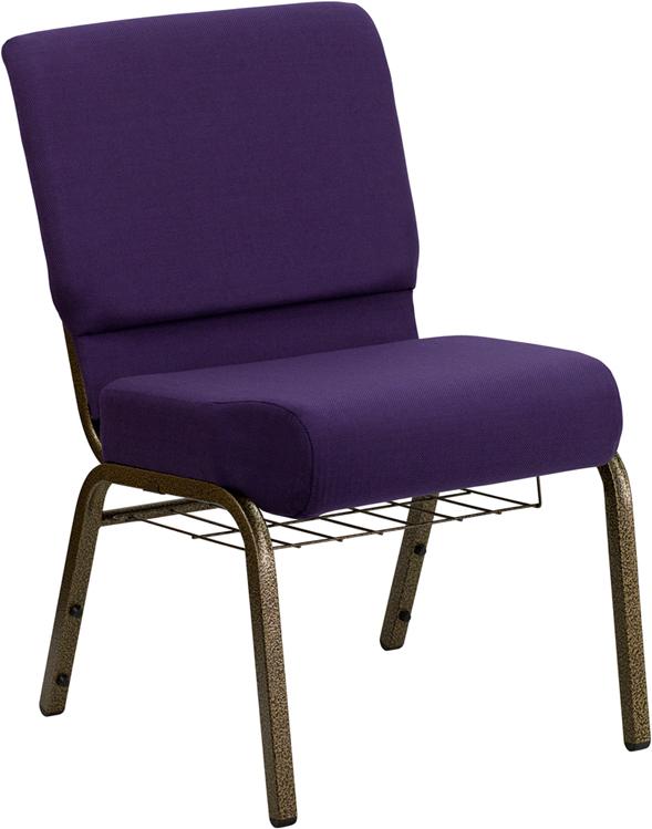 Purple Fabric Church Chair FD-CH0221-4-GV-ROY-BAS-GG