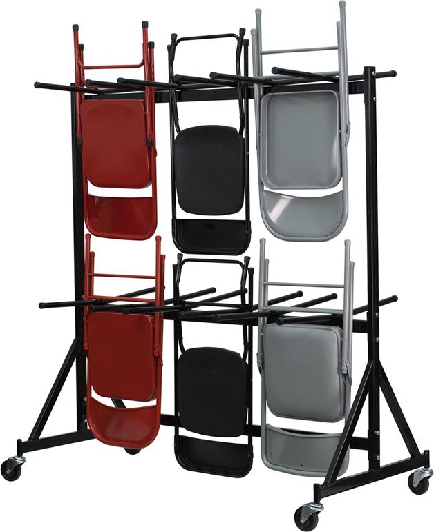 Black Folding Chair Dolly NG-FC-DOLLY-GG