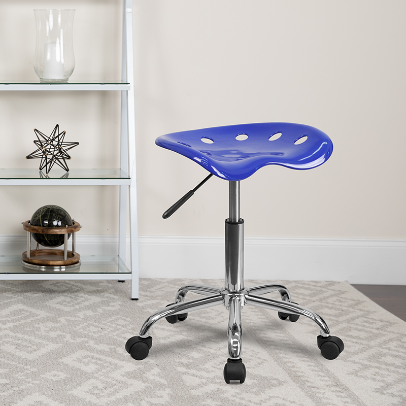 Nautical Blue Tractor Stool LF-214A-NAUTICALBLUE-GG