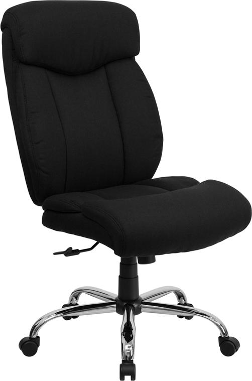 Black 400LB High Back Chair GO-1235-BK-FAB-GG