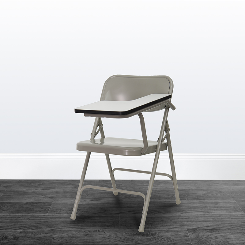 Beige Metal Tablet Arm Chair HF-309AST-LFT-GG