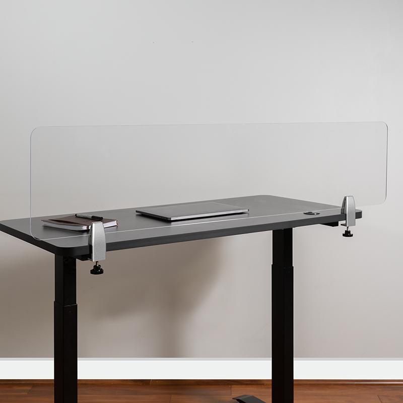 Clear Acrylic Desk Partition BR-DDIA-30139-GG