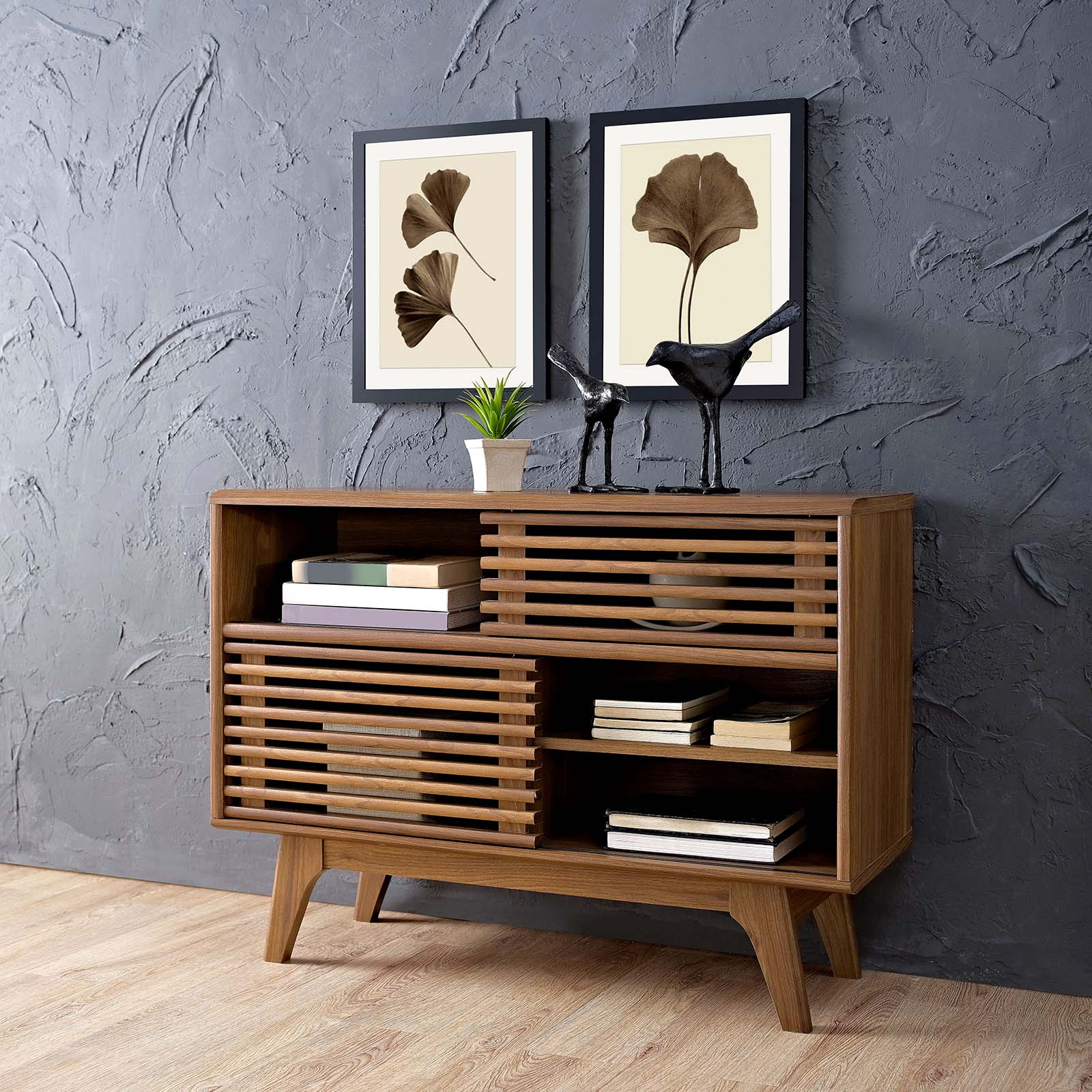 Render Display Stand Walnut EEI-2542-WAL