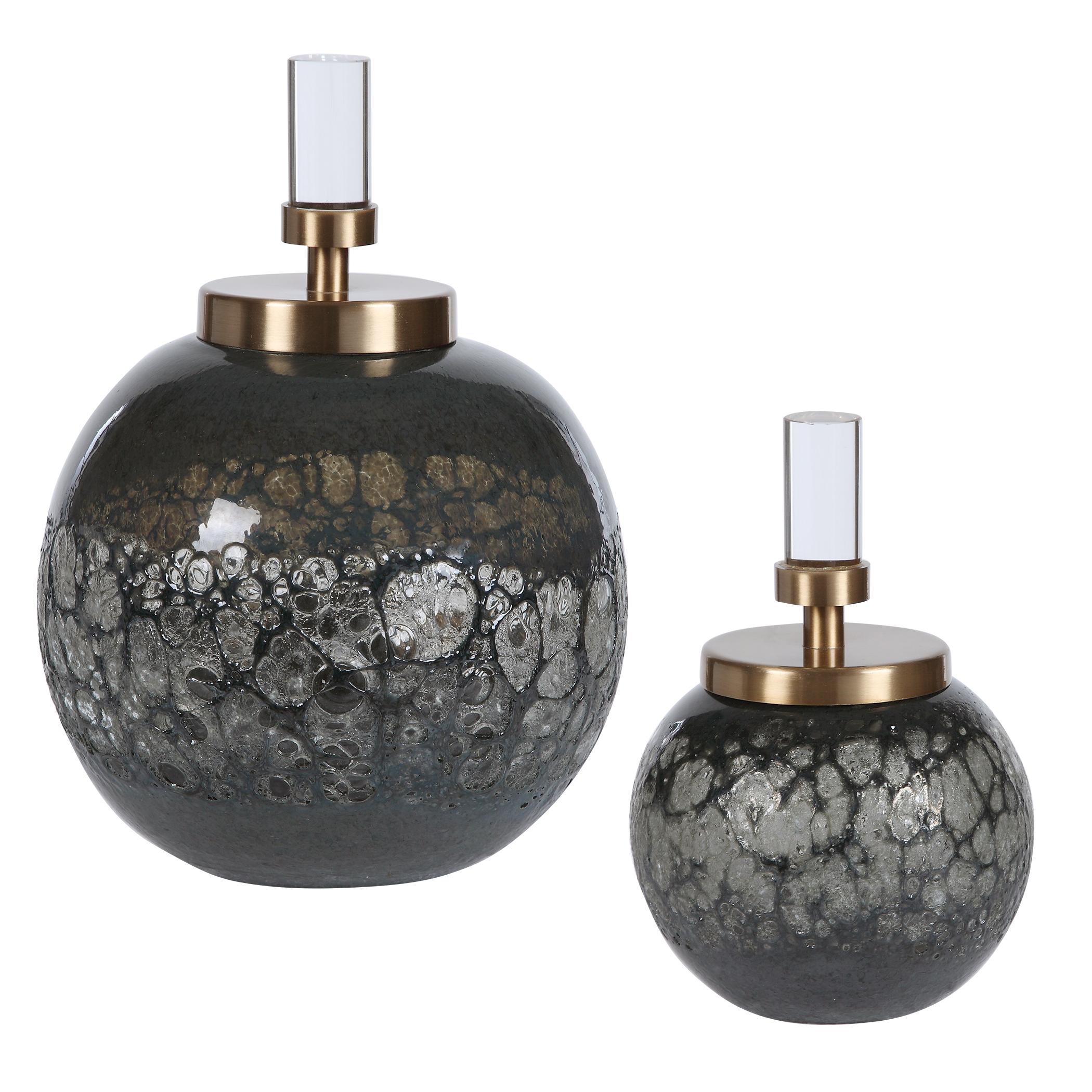 Uttermost Cessair Art Glass Bottles, S/2