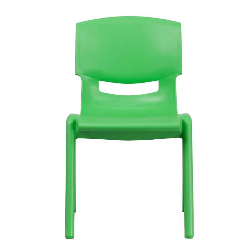 Green Plastic Stack Chair YU-YCX-005-GREEN-GG