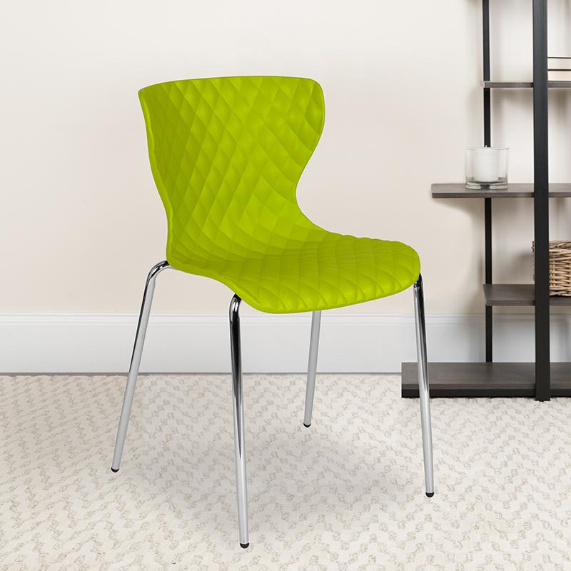 Green Plastic Stack Chair LF-7-07C-CGRN-GG