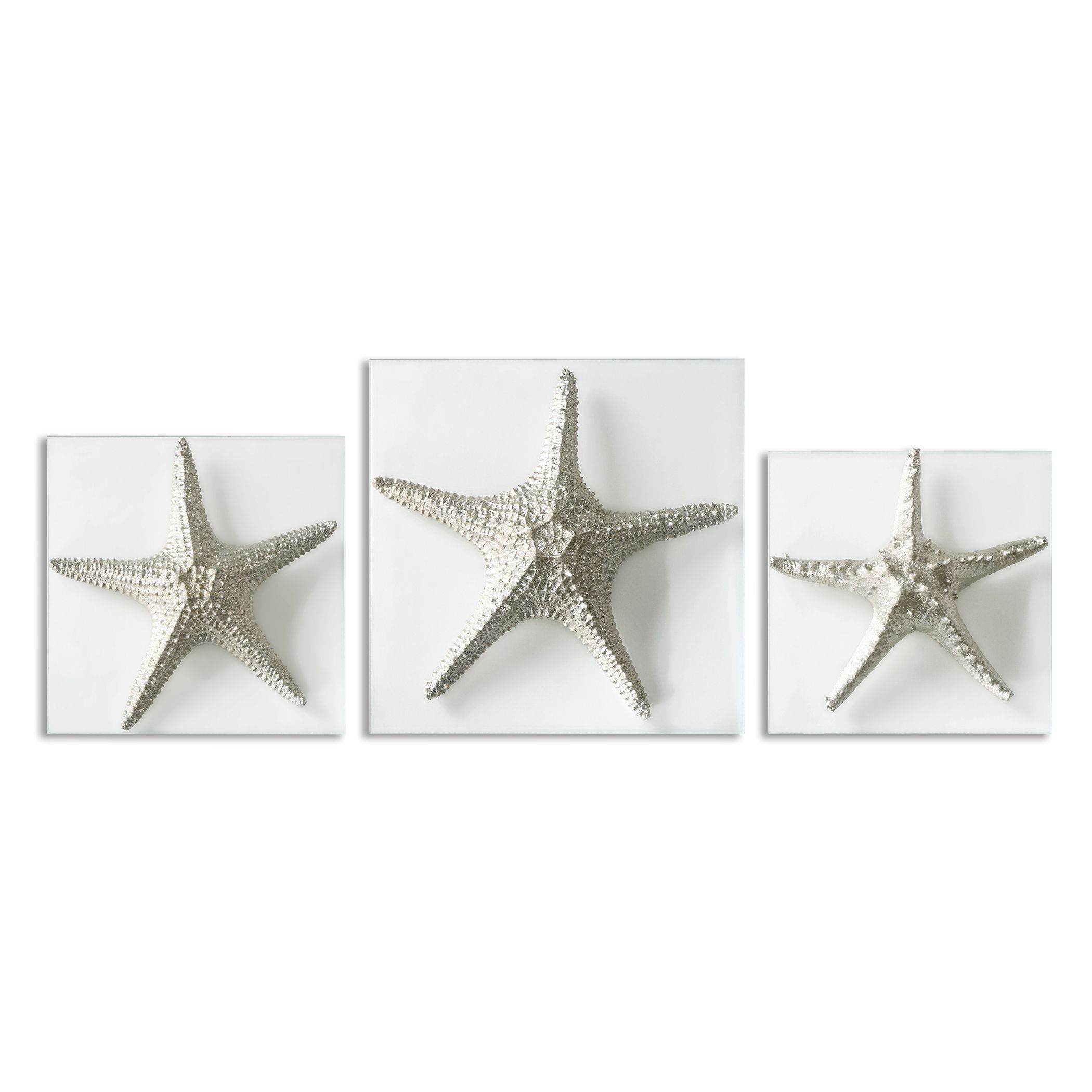 Uttermost Silver Starfish Wall Art, S/3