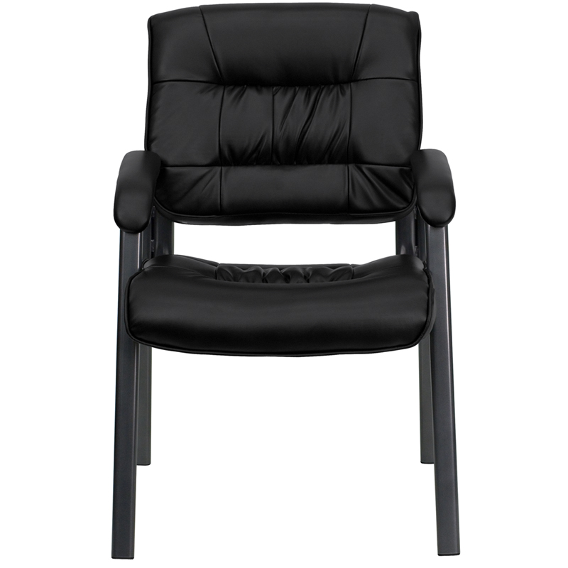 Black Leather Side Chair BT-1404-BKGY-GG