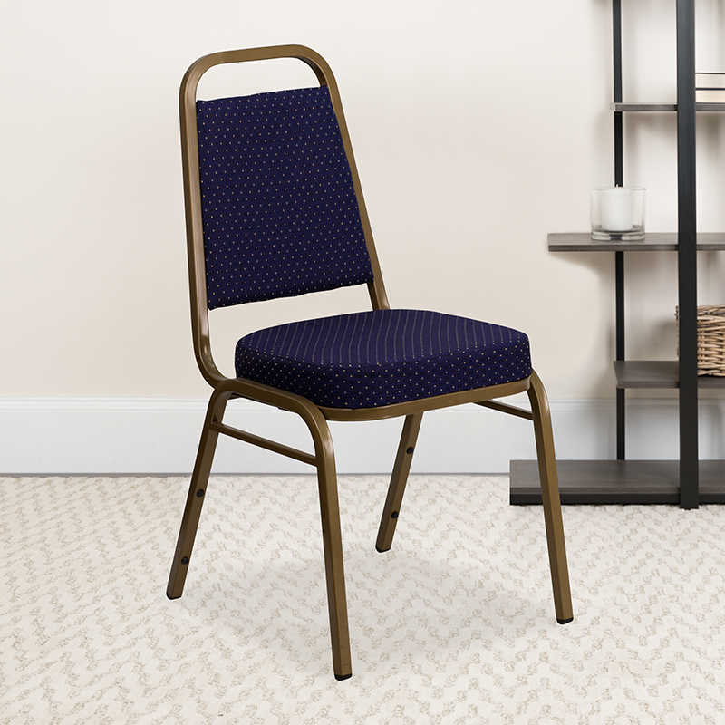 Navy Fabric Banquet Chair FD-BHF-1-ALLGOLD-0849-NVY-GG