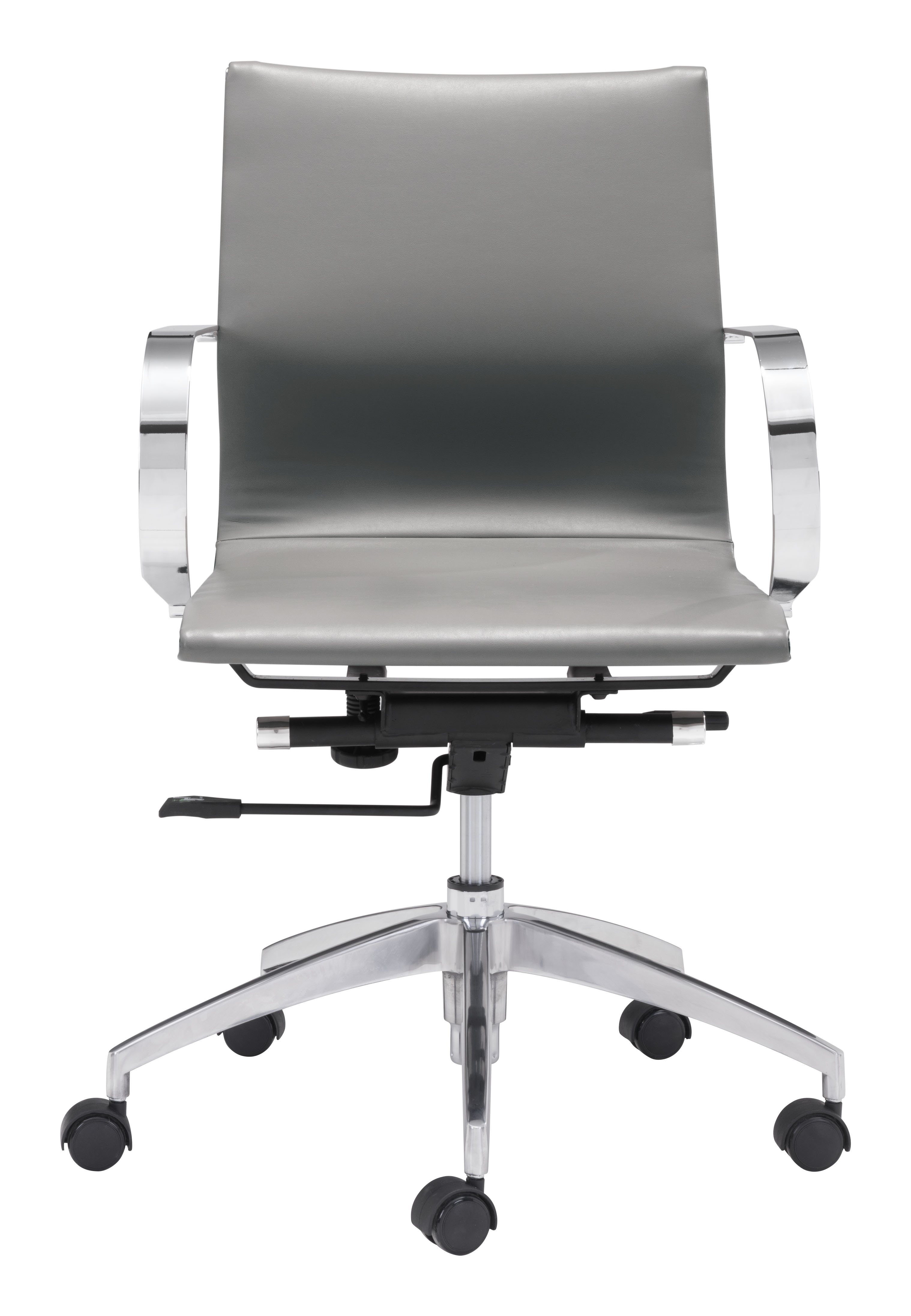 Glider Low Back Office Chair Gray