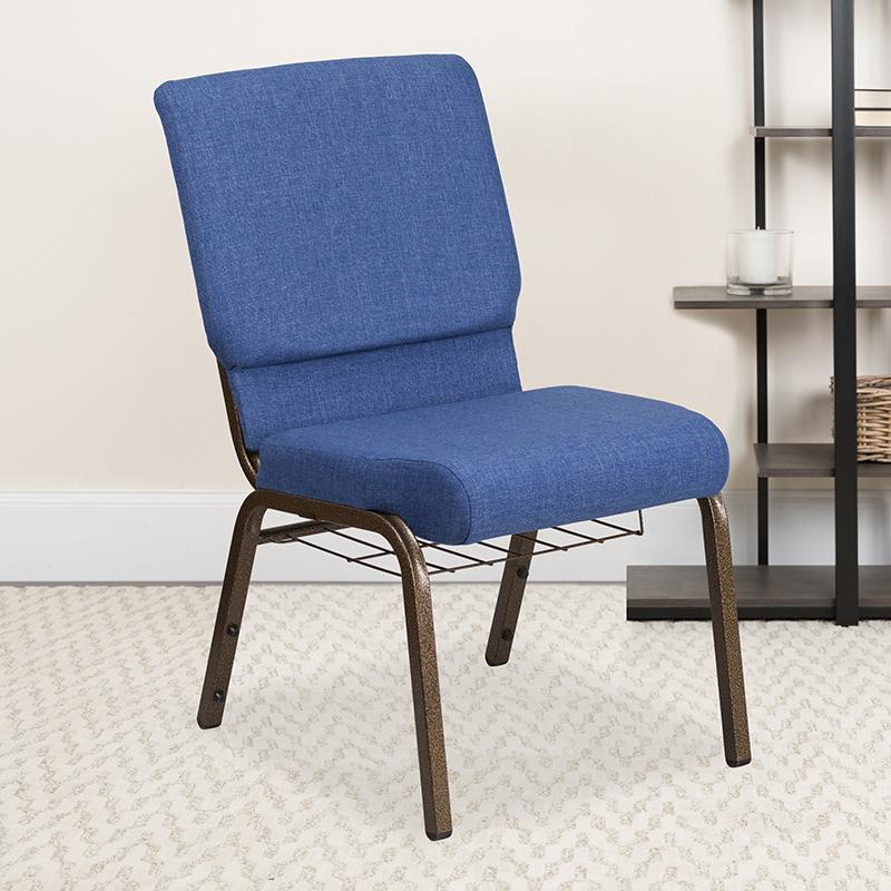 Blue Fabric Church Chair FD-CH02185-GV-BLUE-BAS-GG