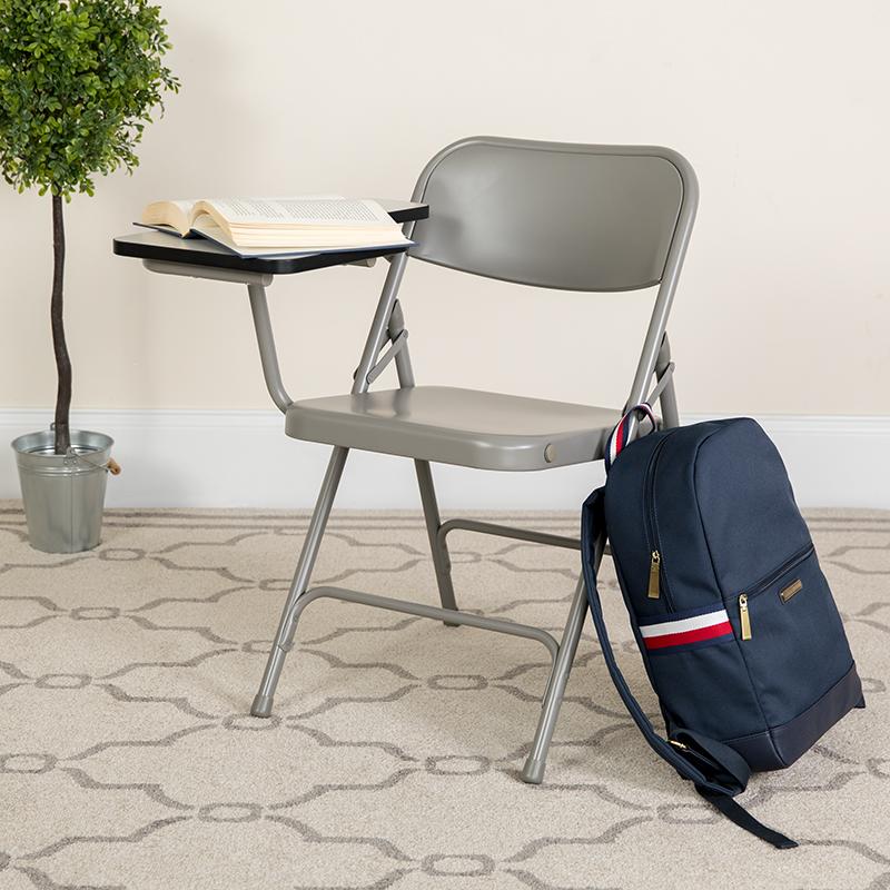 Beige Metal Tablet Arm Chair HF-309AST-RT-GG