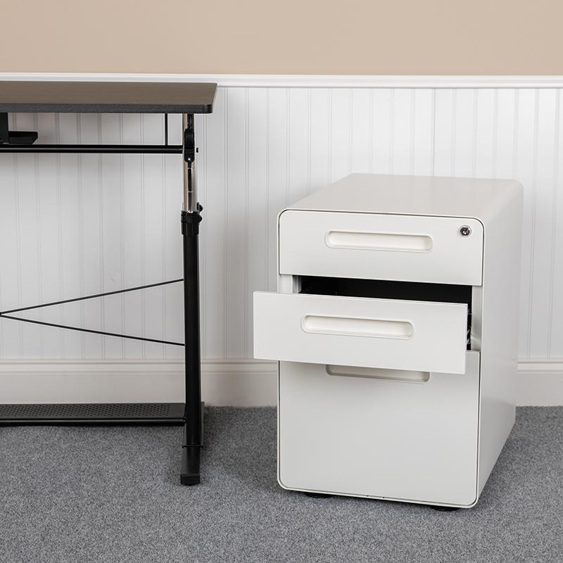 3-Drawer Filing Cabinet-White HZ-AP535-01-W-GG