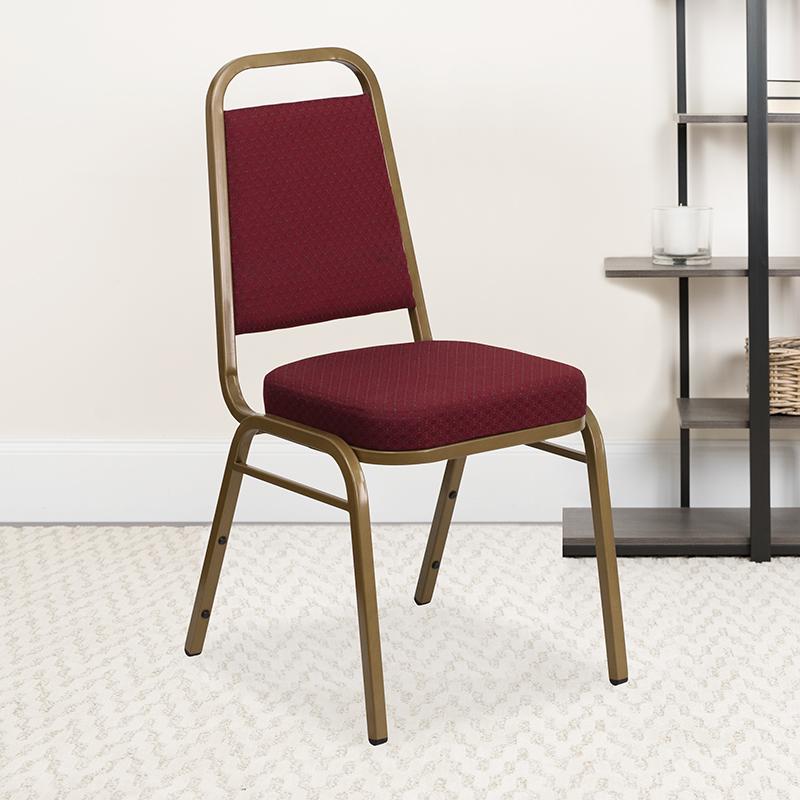 Burgundy Fabric Banquet Chair FD-BHF-1-ALLGOLD-0847-BY-GG