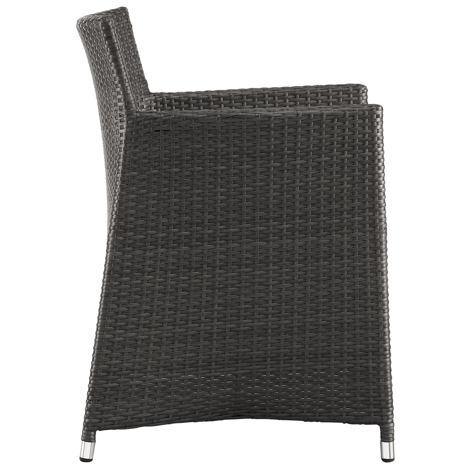 Junction Dining Outdoor Patio Armchair Brown White EEI-1505-BRN-WHI