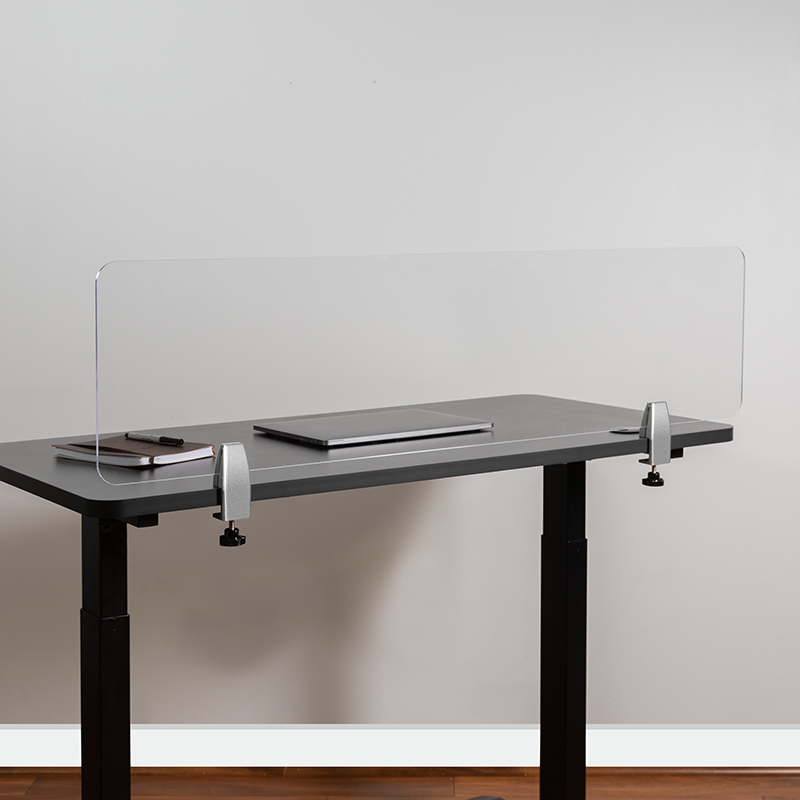 Clear Acrylic Desk Partition BR-DDIA-30119-GG