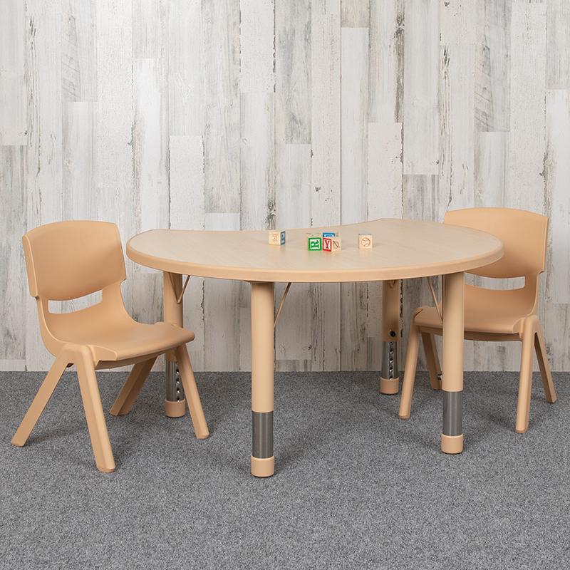 25x35 Natural Kids Table Set YU-YCY-093-0032-CIR-TBL-NAT-GG