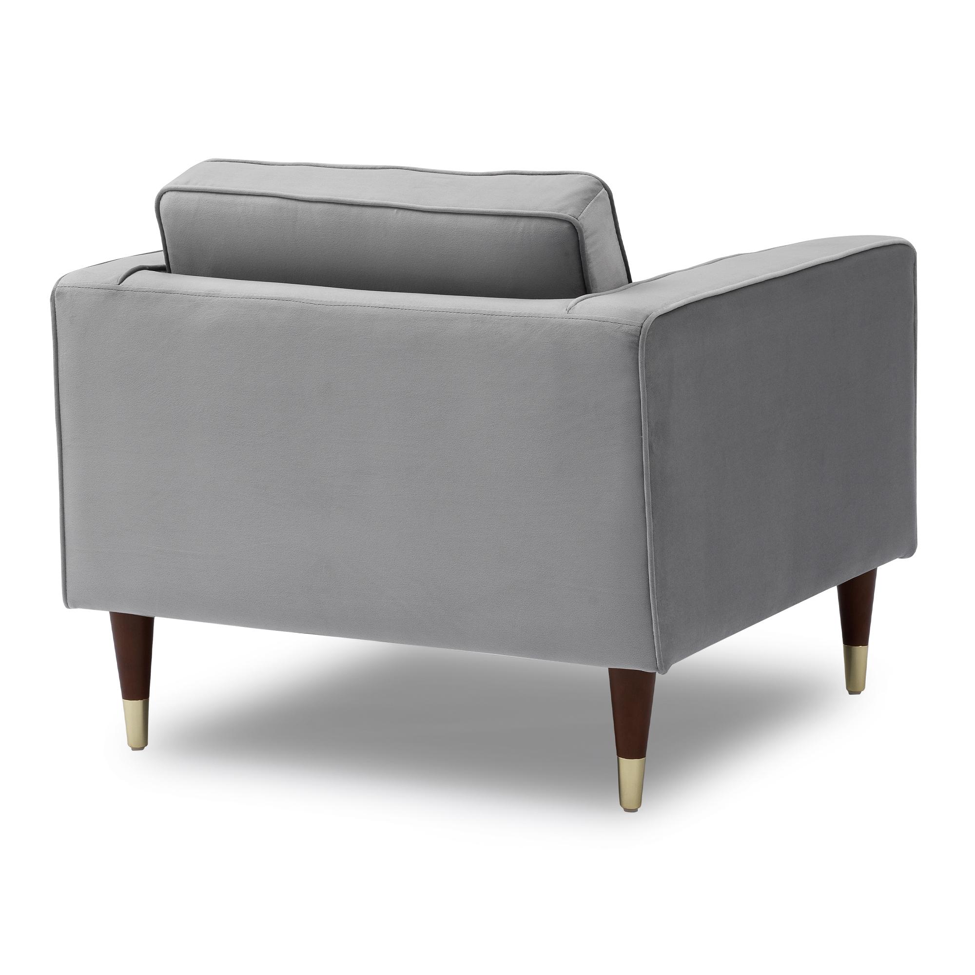 Somerset Grey Velvet Mid Century Modern Club Chair