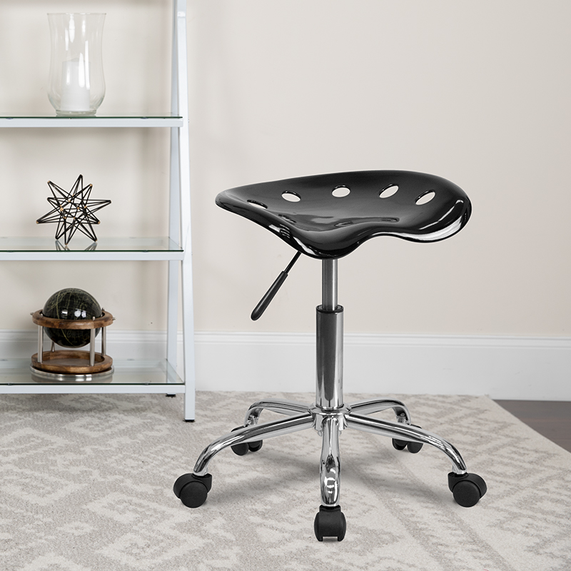 Black Tractor Stool LF-214A-BLACK-GG