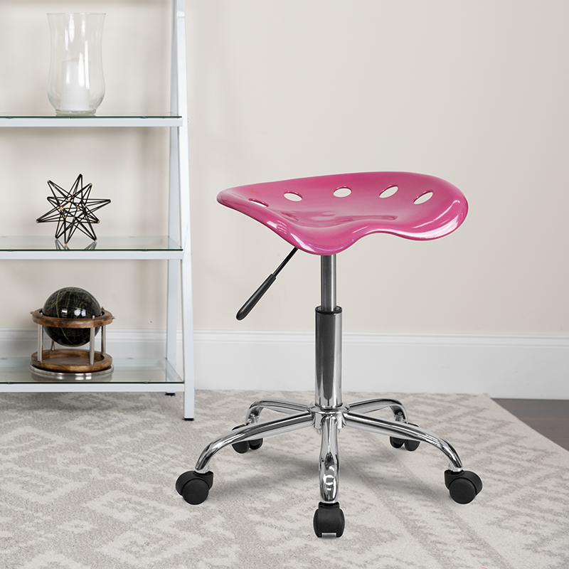 Pink Tractor Stool LF-214A-PINK-GG