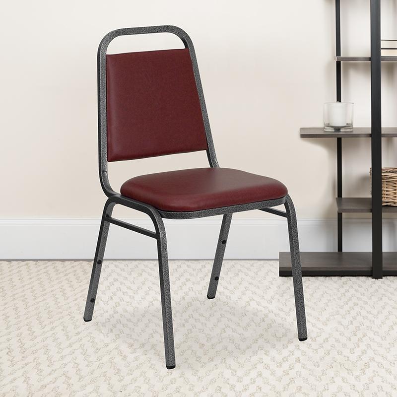 Burgundy Vinyl Banquet Chair FD-BHF-2-BY-VYL-GG