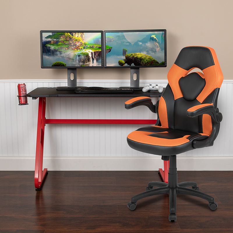 Red Gaming Desk and Chair Set BLN-X10RSG1030-OR-GG