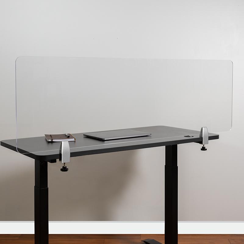 Clear Acrylic Desk Partition BR-DDIA-45139-GG